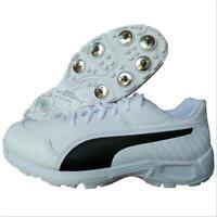 Puma evoSPEED 18.1 C Spike White Black Virat Kohli Cricket Shoes Size UK 6 & 7