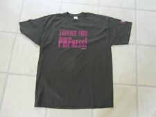 MEN's PROMOTIONAL XL GREY SHORT SLEEVE TOP 'WEB & PHP MAGAZINE' webandphp.com