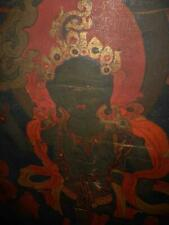 Antique Tibet Nepal TOP VERY HIGH AGED THANGKA PAINTING ROLL WITH GREEN TARA