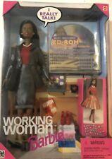 New listing Working Woman African American Talking Barbie Doll w/CD Rom NRFB Mattel #20549