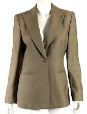 GIORGIO ARMANI Brown Micro Houndstooth Cashmere Silk Blazer Jacket 44
