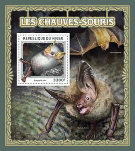 Niger 2016 MNH Bats 1v S/S Honduran White Bat Wild Animals Stamps