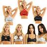 Women Shiny Sequins Bustier Bra Top Rave Dance Party Crop Top Vest Blouse Club