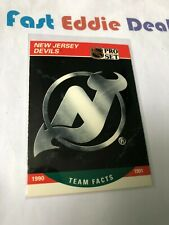 PRO SET NHL HOCKEY 1990 NEW JERSEY DEVILS TEAM FACTS CARD 576 EXCELLENT 1990-91