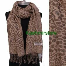 New Fashion Women's Soft Jacquard Pashmina Silk Scarf Shawl/Wrap Color Tan/Beige
