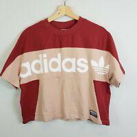 ADIDAS Originals   Womens Boxy Crop T-shirt Top  [ Size AU 12 or US 8 ]