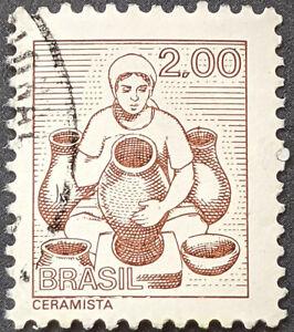 Stamp Brazil SG1604a 1976 Potter 2Cr Used