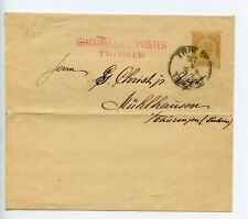 Austria postal stationery newspaper wrapper used 1893 Triest Trieste  (S313)