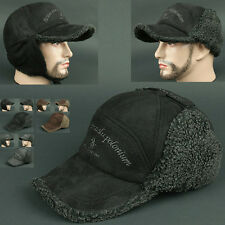 Ball Cap Ear Flap WRL BLACK Chullo Skull Beanie Russian Hat Warmer Outdoor
