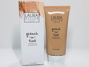 Laura Geller Quench n Tint Hydrating Foundation Medium Full Sz New In Box