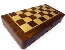 Wooden Folding Chess Board Box 8 x 8 Inches With Wooden Coins Set