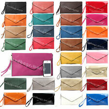 Ladies Faux Leather Clutch Purse Bag Womens Envelope Clutch Bag Evening Party