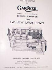 Gardner LW HLW LW20 HLW20 Diesel Truck Foden ERF Atkinson Scammell Marine Boat