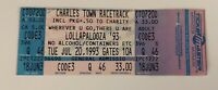 Lollapalooza 1993 Charles Town Racetrack West Virginia Unused Ticket 6/20/93