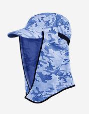 Kids Flippa Hat UPF50+ MARINE CAMO Sun Protection, Fishing, Kayaking, Hiking