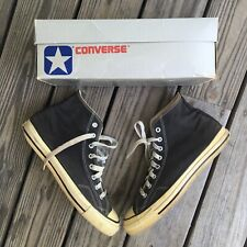Vtg Converse Chuck Taylor Size 11.5 Made In Usa With Box Black Colorway 1980s