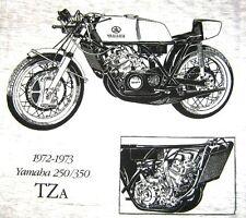TEE SHIRT MOTO TZa 250/350 TAILLE M RECTO VERSO