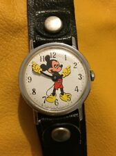 Mickey Mouse Vintage Mechanical Watch In Running Condition