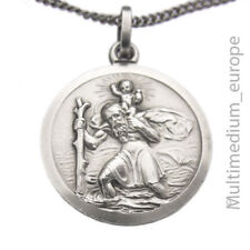 Hl. St. Heiliger Christopherus Silber Anhänger Schutz silver pendant 🌺🌺🌺🌺🌺