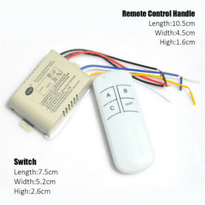 RF Remote Control Switch 1/2/3/4 Way ON/OFF 220V Wireless Receiver Lamp Light