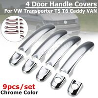 4 Door Handle Covers Set Chrome For VW TRANSPORTER T5 T6 CARAVELLE CADDY VAN !