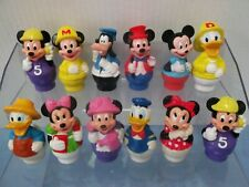 12 Vintage Mickey, Minnie, Donald and Friends PVC Action Figures