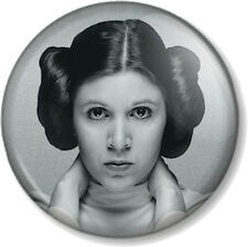 """Princess Leia 25mm 1"""" Pin Button Badge Star Wars Movie Character Carrie Fisher 2"""