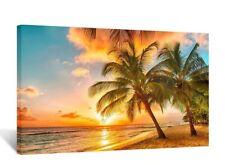 [Framed] Sunset Seascape Ocean Beach Modern Canvas Wall Art Picture Prints Decor