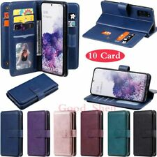10 Card Slot Leather Wallet Case Cover For Samsung S20 FE S10 S9 A51 A71 Note 20