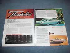 "1961-'66 Ford Thunderbird Model History Info Article ""Flying Low"" 62 63 64 65"
