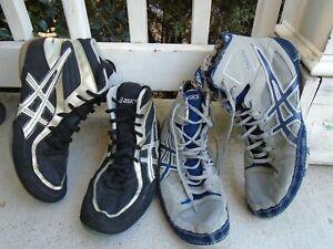 Asics Gel lot of 2 pairs wrestling shoes mens sz 11.5-12