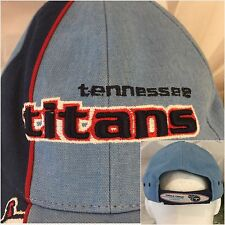 Officially Licensed Product Tennessee Titans NFL Hat Mens Blue Cotton OS EUC