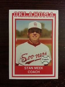 1989 Oklahoma SOONERS Baseball #2 STAN MEEK Coach St Louis CARDINALS