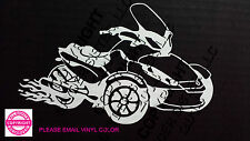 CAN-AM SPYDER ST WITH FLAMES WINDOW DECAL AND STICKER - 13 colors
