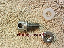 STAINLESS STEEL RIFLE SLING SWIVEL MOUNT 3/8 inch MACHINE SCREW THREAD + Hex Nut