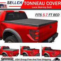 For 2009-2018 Dodge Ram 1500 5.7 FT Bed  Premium Lock & Roll UP Soft Bed Cover