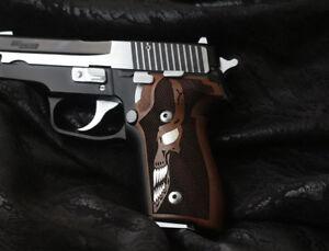 Sig Sauer P228 229 Walnut Grip