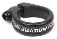 """SHADOW CONSPIRACY ALFRED BMX BIKE BICYCLE SEAT POST CLAMP 1 1/8"""" SUBROSA BLACK"""