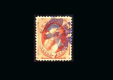 US Stamp Used, Super b S#149 PURPLE Fancy Cancel, scarce