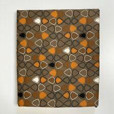 3 Yds Vtg Saga Manhattan 10 Corp Fabric Washable Canvas Upholstery Atomic Print