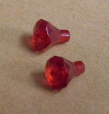2 Lego Kristalle Rock 1 x 1 Steine Diamanten Rock Raiders Zubehör rot Neu