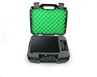 Green Xbox One X Compact Travel Carry Case Fits Console , Controller & Games