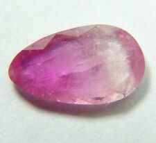 Top quality watermelon tourmaline,slice,0.95ct Brazil around 8mm, faceted 608
