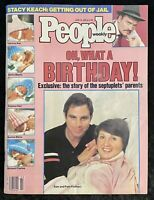 Vintage People Weekly Magazine June 1985 Frustaci Septuplets