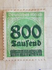 N°310 Timbre neuf avec charnière BE vert Allemagne 1923 800 saufend sur 400 mark