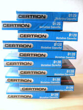 Blank Audio Recording Cassette Tapes D120 Minutes Certron , Pack Of 10