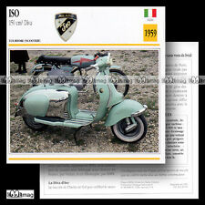 #030.06 Scooter ISO 150 DIVA 1959 Fiche Moto Classic Bike Motorcycle Card