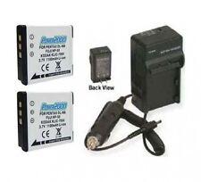 TWO 2 Batteries + Charger for Fuji FujiFilm F75EXR F80EXR F85EXR F100FD F200EXR