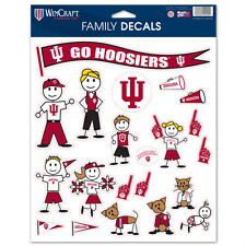 Indiana Hoosiers Family Sticker Set Decals