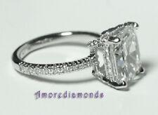 3.86 ct H VS2 natural cushion diamond engagement anniversary ring platinum